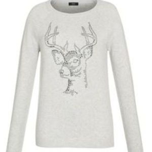 Holiday Stag Deer Sweater 12 Medium Christmas